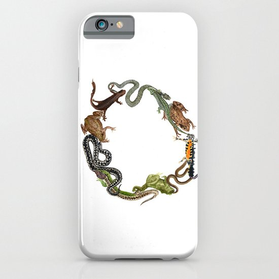 Reptile Wreath iPhone & iPod Case