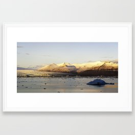 Looking glacier Framed Art Print