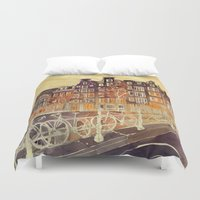 amsterdam Duvet Covers featuring Amsterdam by takmaj