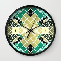 snake Wall Clocks featuring Snake by SensualPatterns