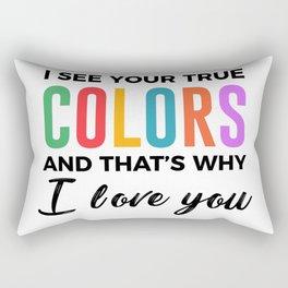 True Colors Unconditional Love Autistic Autism Rectangular Pillow