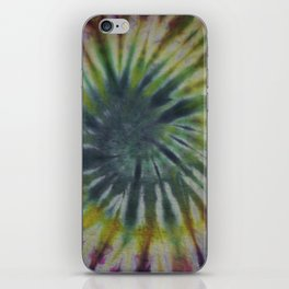 Tie Dye Pink Green Yellow Black 11 iPhone Skin