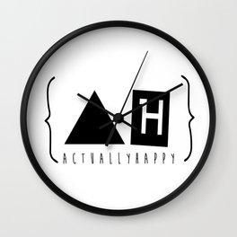 Actually Happy  Wall Clock