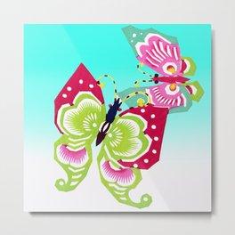 Dancing Butterflies Metal Print
