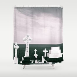 A place to rest by the ocean Shower Curtain