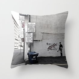 Dreams Cancelled Throw Pillow