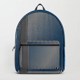 Escultura Cubo virtual azul y negro con progresión amarilla -Detail- Backpack