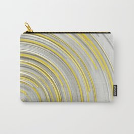 Glowing yellow concentric spirals on white Carry-All Pouch