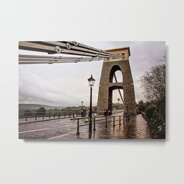 Bristol- Clifton Suspension Bridge Close-up Metal Print