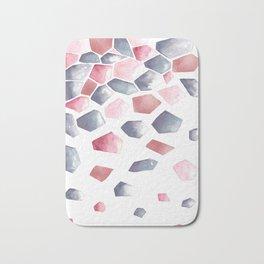 Watercolour Crystals | Grey, Blush and Rose Gold Bath Mat