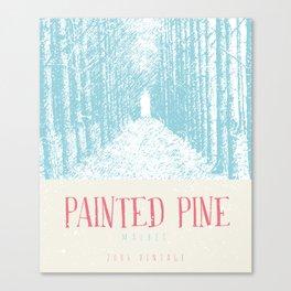 Wine Label - Painted Pine Canvas Print