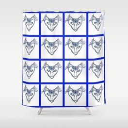 SkyWolf Print Shower Curtain