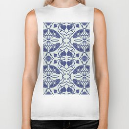 Blue Morning Glory Biker Tank