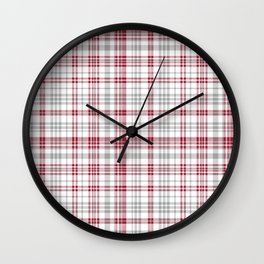 Bama crimson tide college state pattern print university of alabama varsity alumni gifts plaid Wall Clock