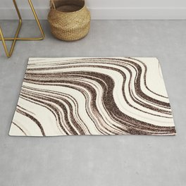 Textured Marble - Brown & Cream Rug