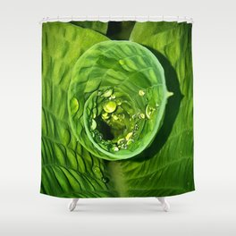 Spiral Drops Shower Curtain