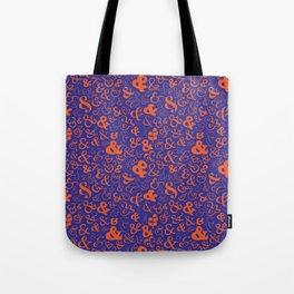 Ampersands - Blue & Orange Tote Bag