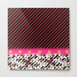Candy Stripes II Metal Print