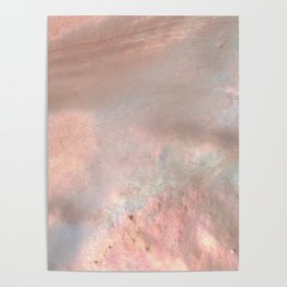 Mother of pearl in rose gold Poster