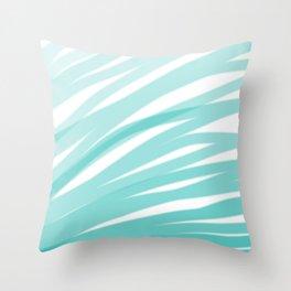 Bahama Blue Line Art, Variable Opacity Color Study – 4 Throw Pillow