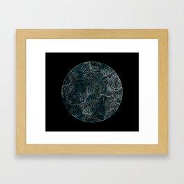 Lines of the Tide Framed Art Print