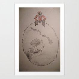 Man on the moon. Art Print