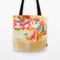 sprinkles Tote Bags featuring Sprinkles by PixelFarmer