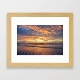 east coast sunrise Framed Art Print