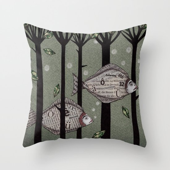 A Fishy Story Throw Pillow