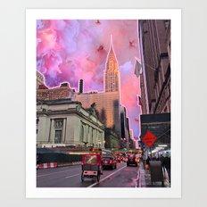 Chrysler Sunset Art Print