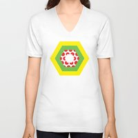 tour de france V-neck T-shirts featuring Tour de France Jerseys by Pedlin