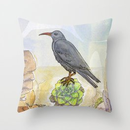 Bird on the Flower / Graja y Bejeque Throw Pillow