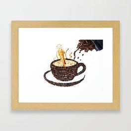 """I """"scream"""" for coffee! Framed Art Print"""