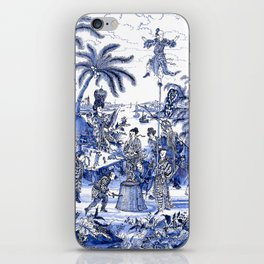 Chinoiserie Blue Landscape iPhone Skin