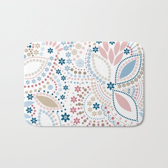 Colorful pattern of pastel light colors with beads Bath Mat