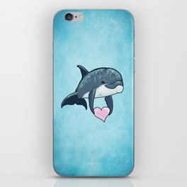 Love Ya! ~ Baby Dolphin by Amber Marine ~ Blue ~ (Copyright 2014) iPhone Skin