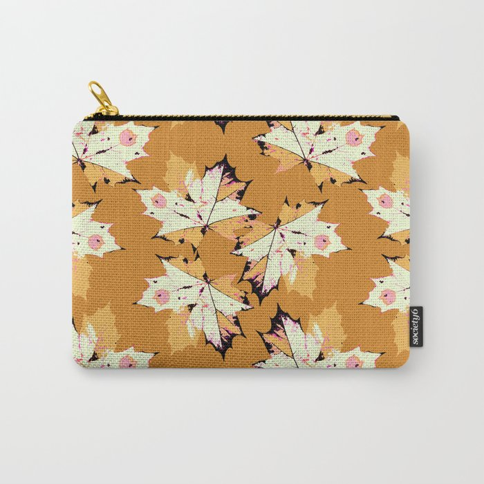 Autumn leaves mustard pattern Carry-All Pouch