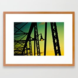 Bridge Light Framed Art Print
