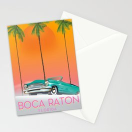 Boca Raton Florida travel poster Stationery Cards
