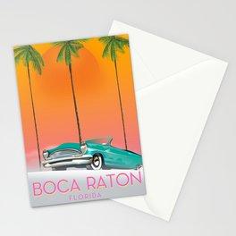 Boca Raton Florida travel poster Stationery Cards