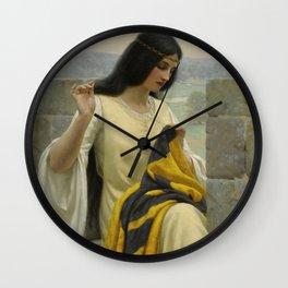 "Edmund Blair Leighton ""Stitching the Standard"" Wall Clock"