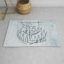 Jesus Christ and disciples in Last Supper Rug