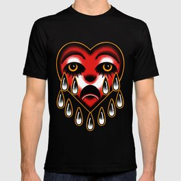 American traditional tattoo style heart. T-shirt