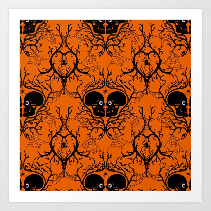 till death do us part halloween art print by blacksunshine society6 - Halloween Prints