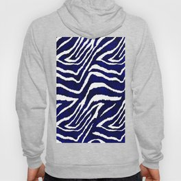 Animal Print: Zebra Blue and White Hoody