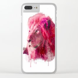 Rose Lion Clear iPhone Case