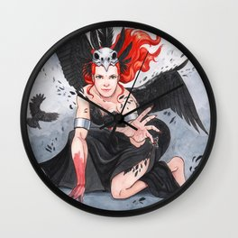 Transformation of The Morrigan Wall Clock