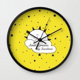 Sweet Dreams my sunshine Wall Clock