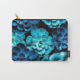Succulent Plants In Blue And Turquoise Color #decor #society6 #homedecor Carry-All Pouch