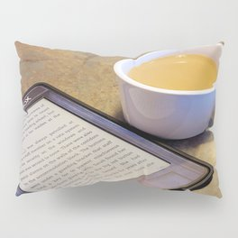 My Coffee and My Kindle Pillow Sham